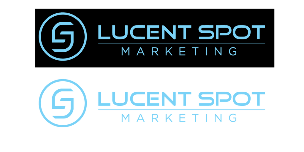 Example of a Lucent Spot logo without a transparent background and with a transparent background