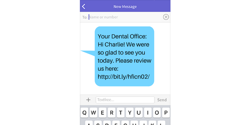 Send Text Messages for Reviews